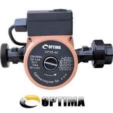 Циркуляционный насос Optima OP25-40 180 мм + гайки + кабель с вилкой