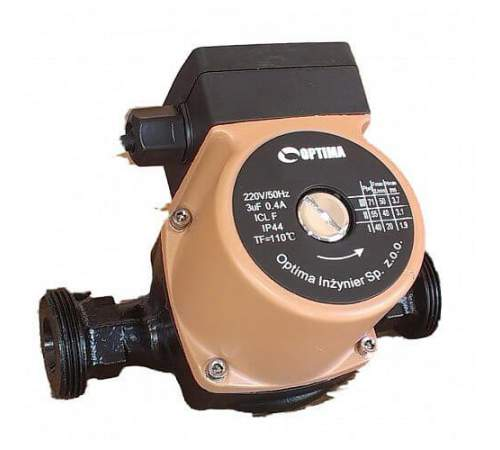 Насос циркуляционный Optima OP25-60 180 мм + гайки + кабель с вилкой